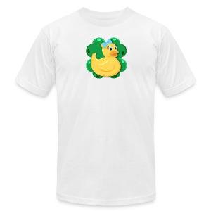 LuckyDuckyLogo - Men's Fine Jersey T-Shirt