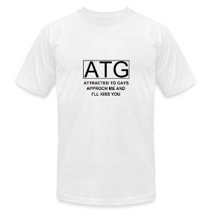ATG Attracted to gays - Men's T-Shirt by American Apparel