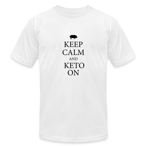 Keto keep calm2 - Men's Fine Jersey T-Shirt