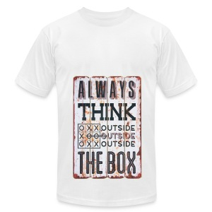 Always think outside the box - Men's Fine Jersey T-Shirt