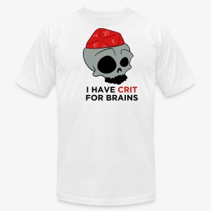 Crit For Brains - Men's Fine Jersey T-Shirt
