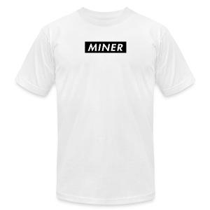 Miner Box Logo - Men's Fine Jersey T-Shirt