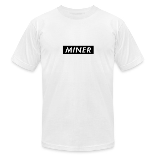 Miner Box Logo - Men's Fine Jersey T-Shirt