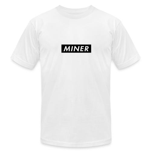 Miner Box Logo - Men's  Jersey T-Shirt