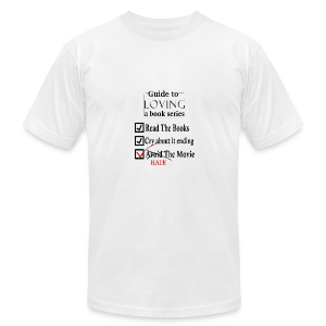 Guide To Loving A Book Series (Black) - Men's T-Shirt by American Apparel