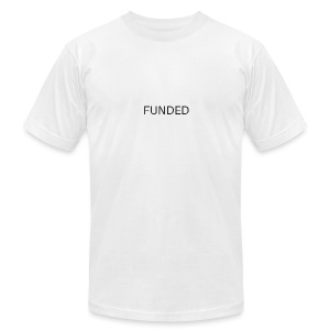 FUNDED Black Lettered T - Men's T-Shirt by American Apparel