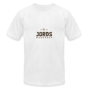 New Age JordsWoodShop logo - Men's T-Shirt by American Apparel