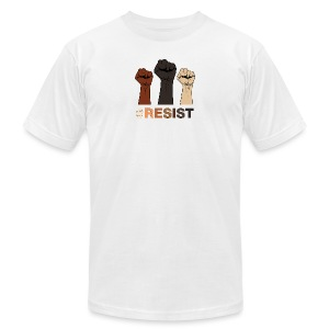 Resist / Racial Justice - Men's T-Shirt by American Apparel