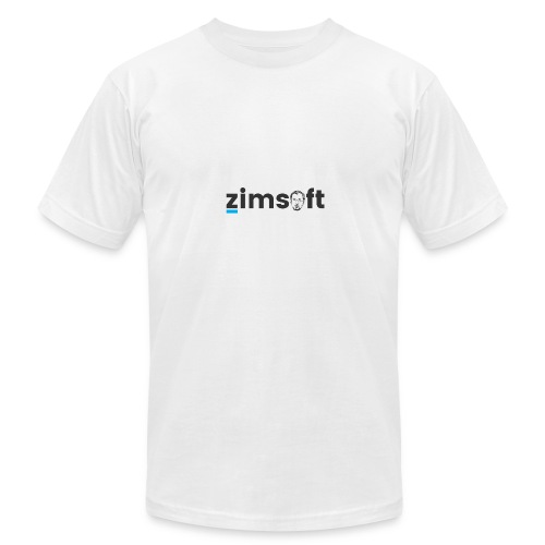 zimsoft dark cropped - Men's Fine Jersey T-Shirt