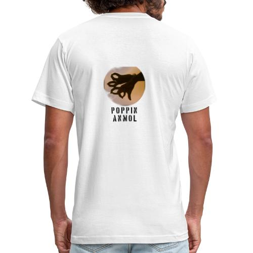 Logo with name - Men's Fine Jersey T-Shirt