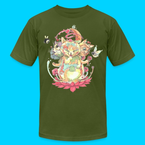 Contraption Brahma Neko - Unisex Jersey T-Shirt by Bella + Canvas