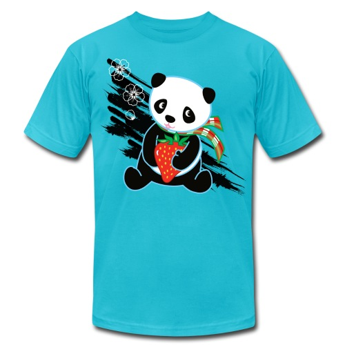 Cute Kawaii Panda T-shirt by Banzai Chicks - Unisex Jersey T-Shirt by Bella + Canvas