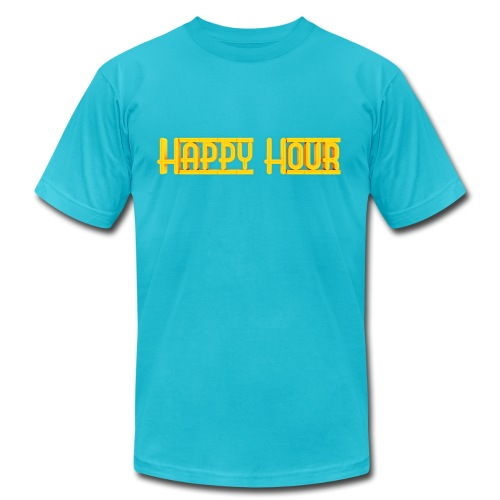 Happy Hour Logo - Unisex Jersey T-Shirt by Bella + Canvas