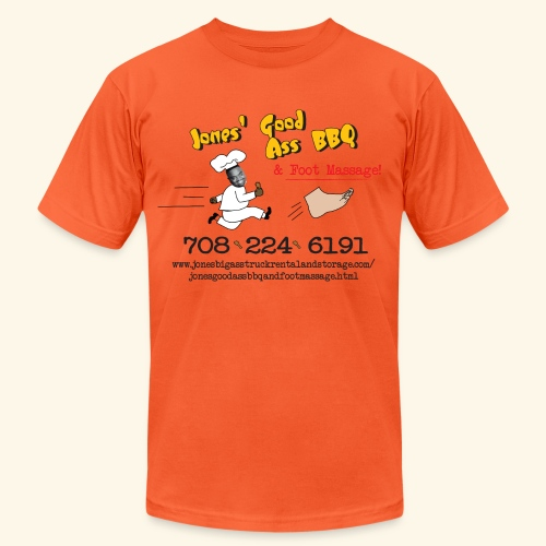 Jones Good Ass BBQ and Foot Massage logo - Unisex Jersey T-Shirt by Bella + Canvas