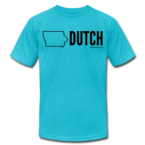 Iowa Dutch (black) - Unisex Jersey T-Shirt by Bella + Canvas