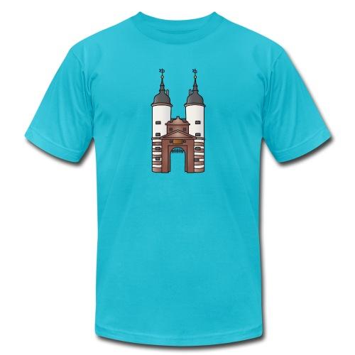 Bridge gate Heidelberg, FRG - Unisex Jersey T-Shirt by Bella + Canvas