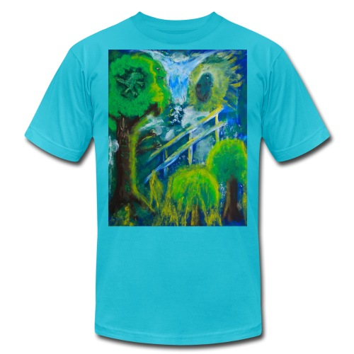Friends in the Forest Painting by Jason Gallant - Unisex Jersey T-Shirt by Bella + Canvas