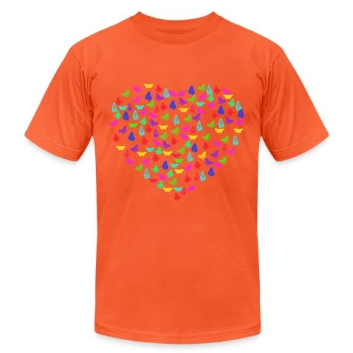 Butterflys heart - Unisex Jersey T-Shirt by Bella + Canvas