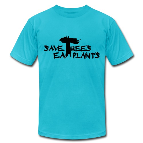 Eat plants, black - Unisex Jersey T-Shirt by Bella + Canvas