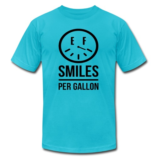 Smiles Per Gallon Shirt png - Unisex Jersey T-Shirt by Bella + Canvas