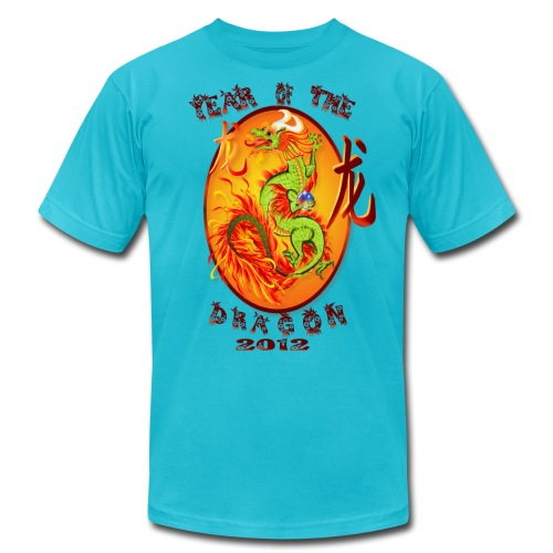 Year Of The Dragon-2012 Oval - Unisex Jersey T-Shirt by Bella + Canvas