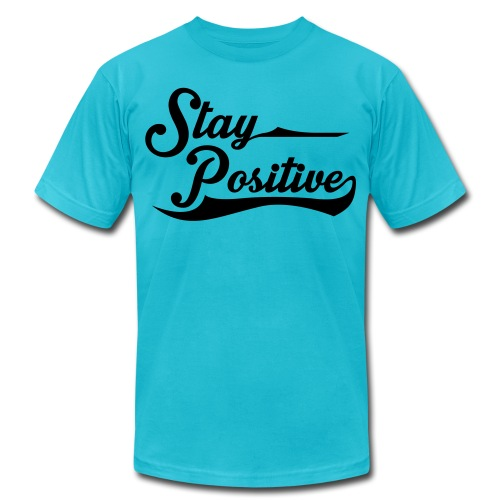 staypositive - Unisex Jersey T-Shirt by Bella + Canvas
