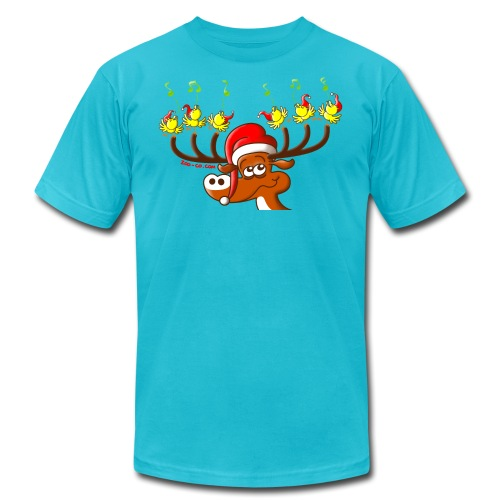 Birds' and Deer's Christmas Concert - Unisex Jersey T-Shirt by Bella + Canvas