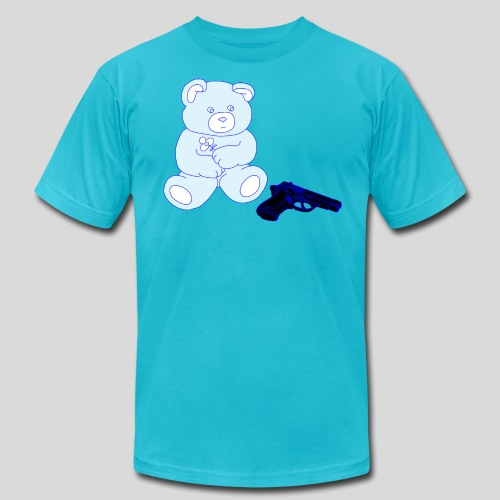 gun bear - Unisex Jersey T-Shirt by Bella + Canvas