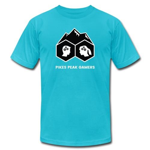 Pikes Peak Gamers Logo (Solid Black) - Men's Jersey T-Shirt