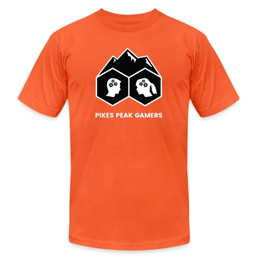 Pikes Peak Gamers Logo (Solid Black) - Unisex Jersey T-Shirt by Bella + Canvas