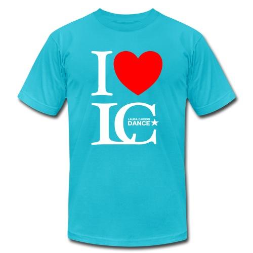 I Heart LCDance - Unisex Jersey T-Shirt by Bella + Canvas