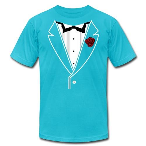 WhtLineRedRose - Unisex Jersey T-Shirt by Bella + Canvas