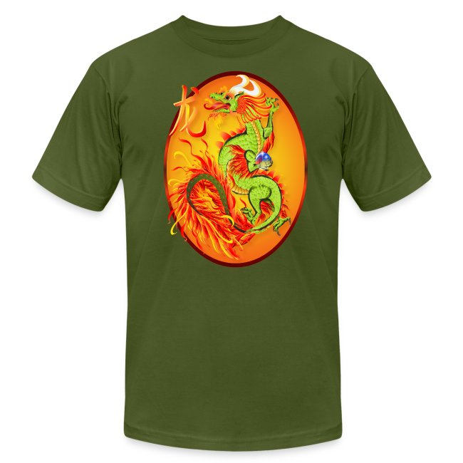 New Year Dragon and Symbol Oval