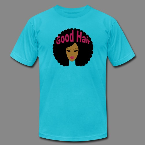 Good Hair (Pink) - Unisex Jersey T-Shirt by Bella + Canvas