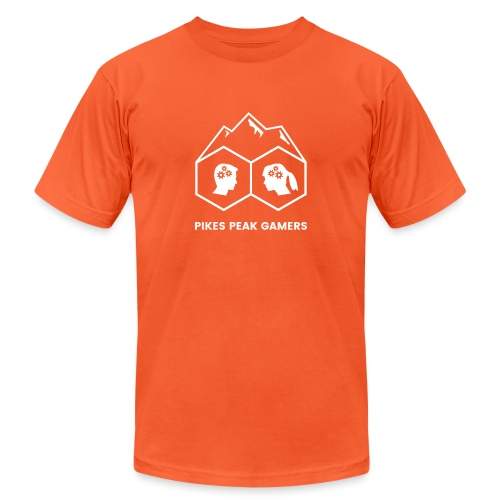 Pikes Peak Gamers Logo (Transparent White) - Unisex Jersey T-Shirt by Bella + Canvas
