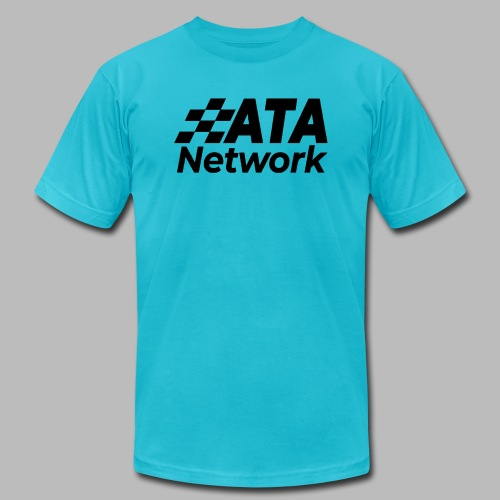 ATA Network Black Stacked Logo - Unisex Jersey T-Shirt by Bella + Canvas