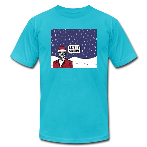 Let It Snow - Unisex Jersey T-Shirt by Bella + Canvas