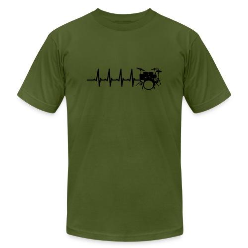 Drums Heartbeat Funny drummer - Men's Jersey T-Shirt
