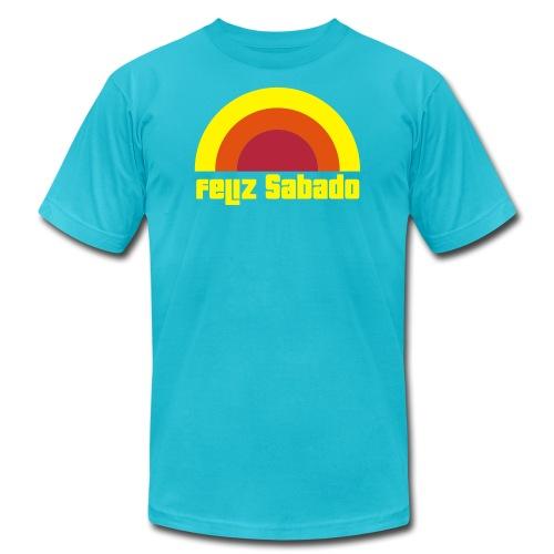 feliz sabado 3 color - Unisex Jersey T-Shirt by Bella + Canvas