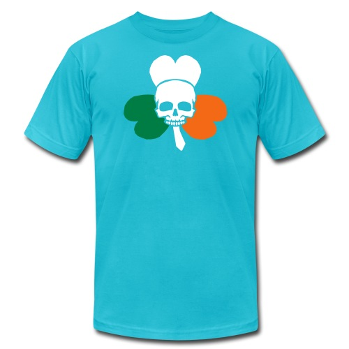 irish_skull_shamrock - Unisex Jersey T-Shirt by Bella + Canvas
