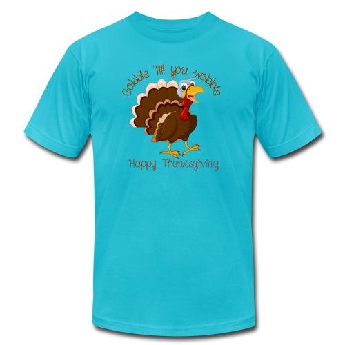 Gobble till you wobble - Unisex Jersey T-Shirt by Bella + Canvas