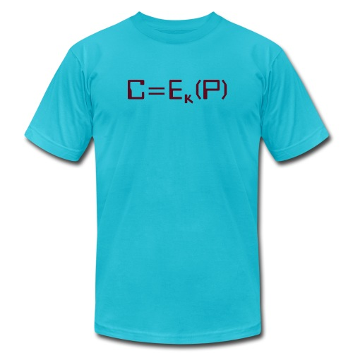 Ciphertext equals encrypted plaintext - Unisex Jersey T-Shirt by Bella + Canvas