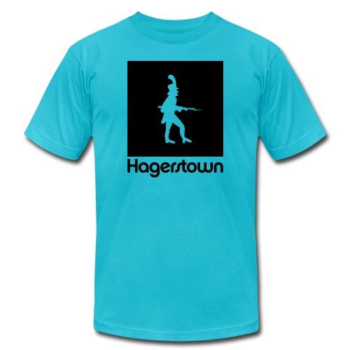 hagerstown black - Unisex Jersey T-Shirt by Bella + Canvas