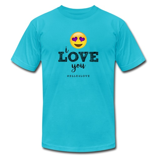 I LOVE you - Unisex Jersey T-Shirt by Bella + Canvas