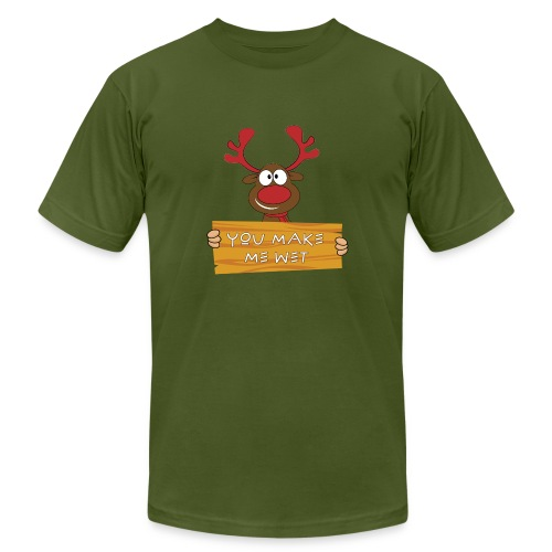 Red Christmas Horny Reindeer 8 - Unisex Jersey T-Shirt by Bella + Canvas