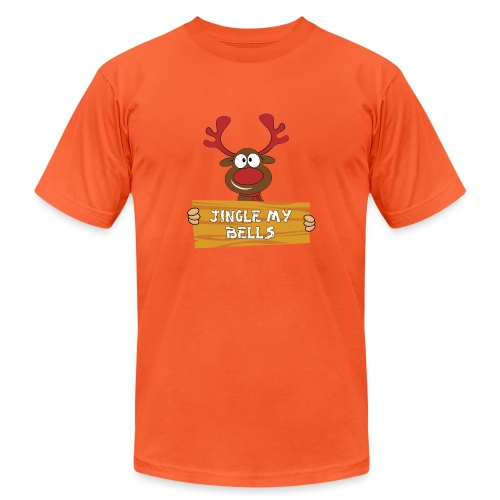 Red Christmas Horny Reindeer 1 - Unisex Jersey T-Shirt by Bella + Canvas