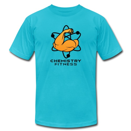 Chemistry Fitness logo (black) Long Sleeve Shirts - Unisex Jersey T-Shirt by Bella + Canvas