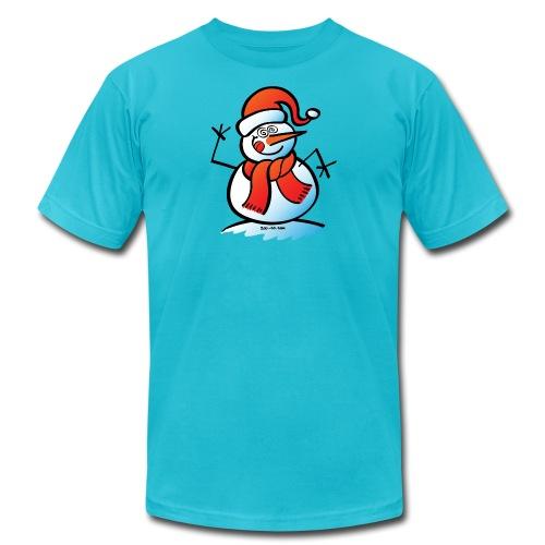 Mad Snowman - Unisex Jersey T-Shirt by Bella + Canvas