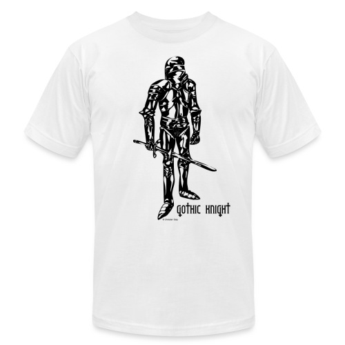 Gothic Knight Standard Mens T-shirt - Unisex Jersey T-Shirt by Bella + Canvas