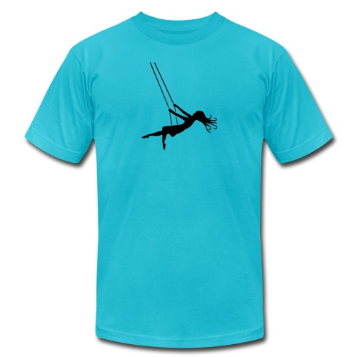 Swinging Girl - Unisex Jersey T-Shirt by Bella + Canvas